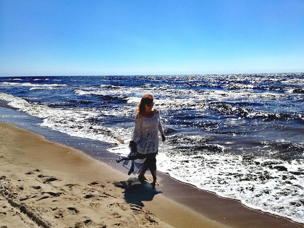 Наталия Руберте, море