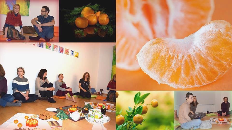 Ёга Йолка и медитация на мандарин